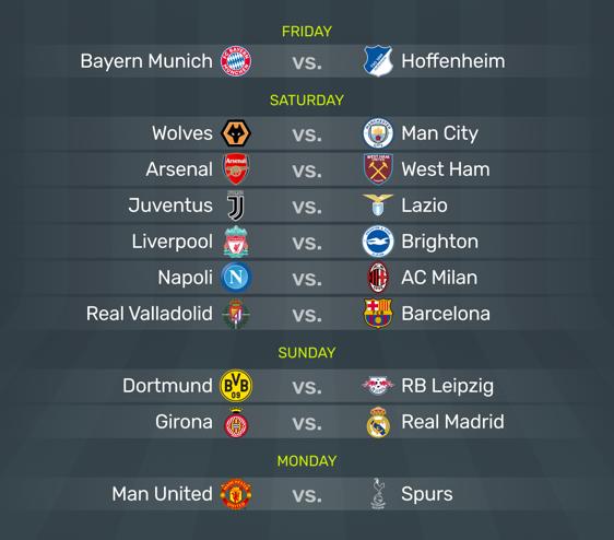 Weekend Preview: Bundesliga begins, a big test for Ronaldo