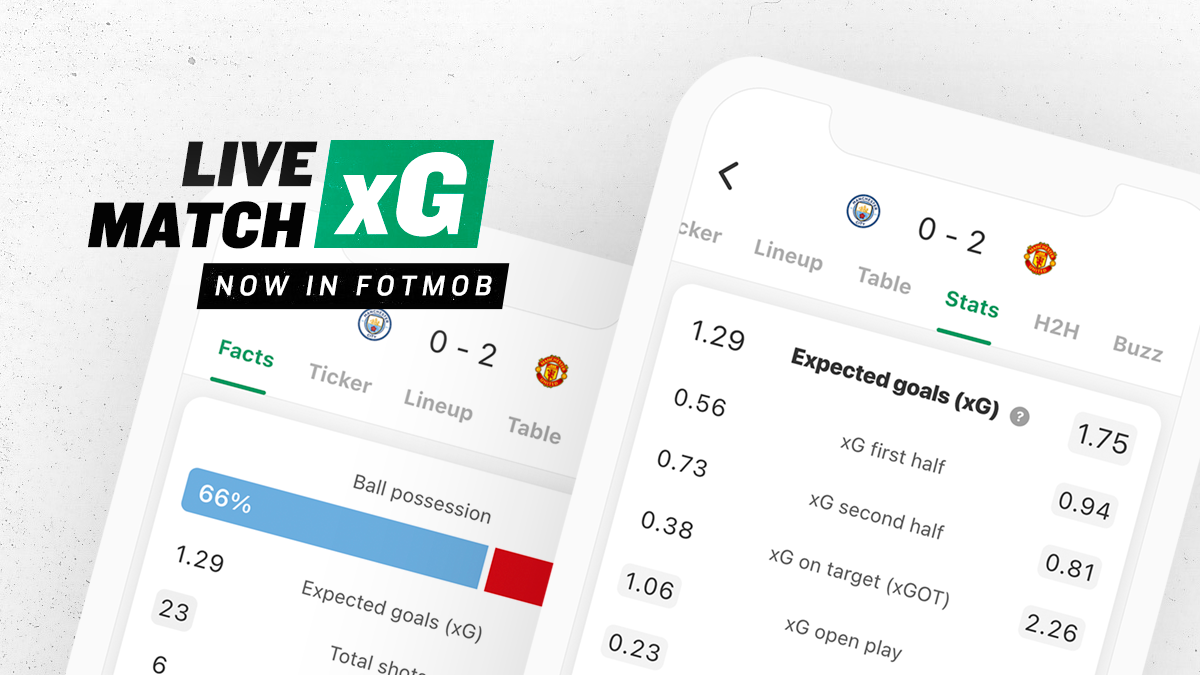 Live xG data is now in FotMob